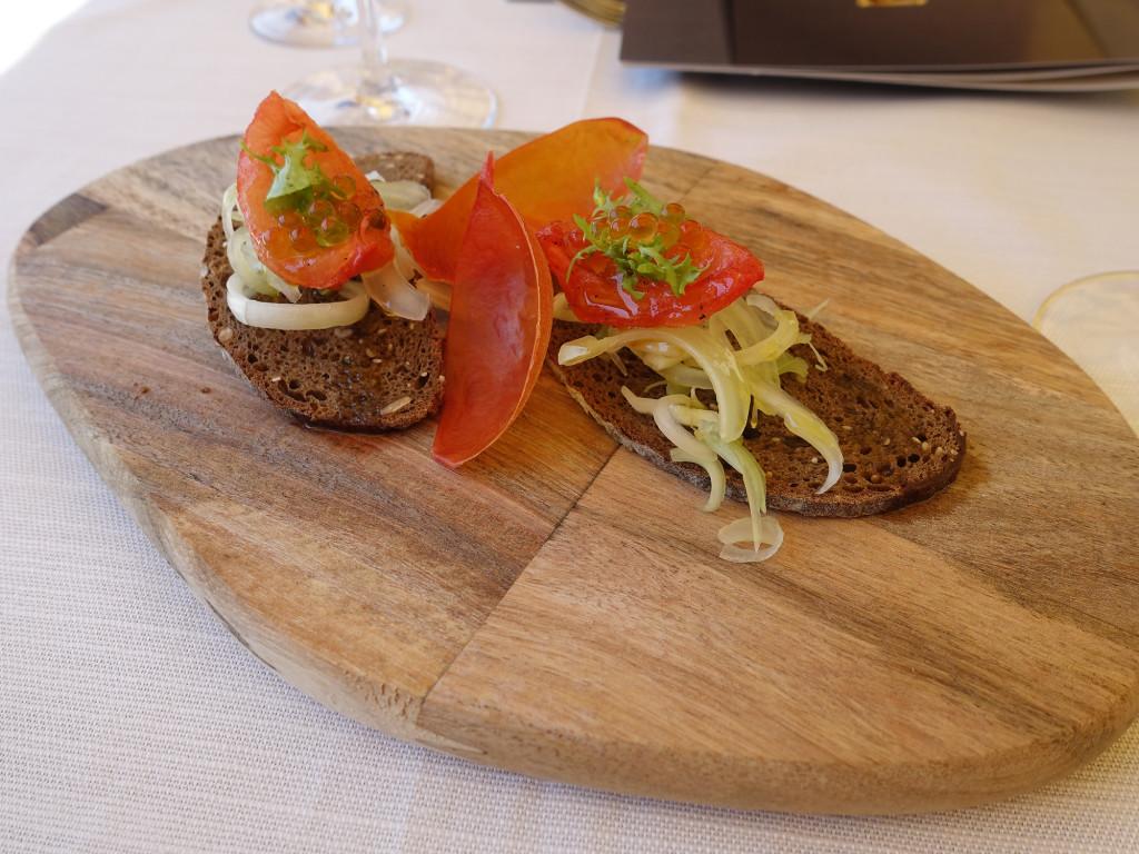 """Gradara - Restaurant """"Mastin Vecchio"""" - ein Gruß aus der Küche"""
