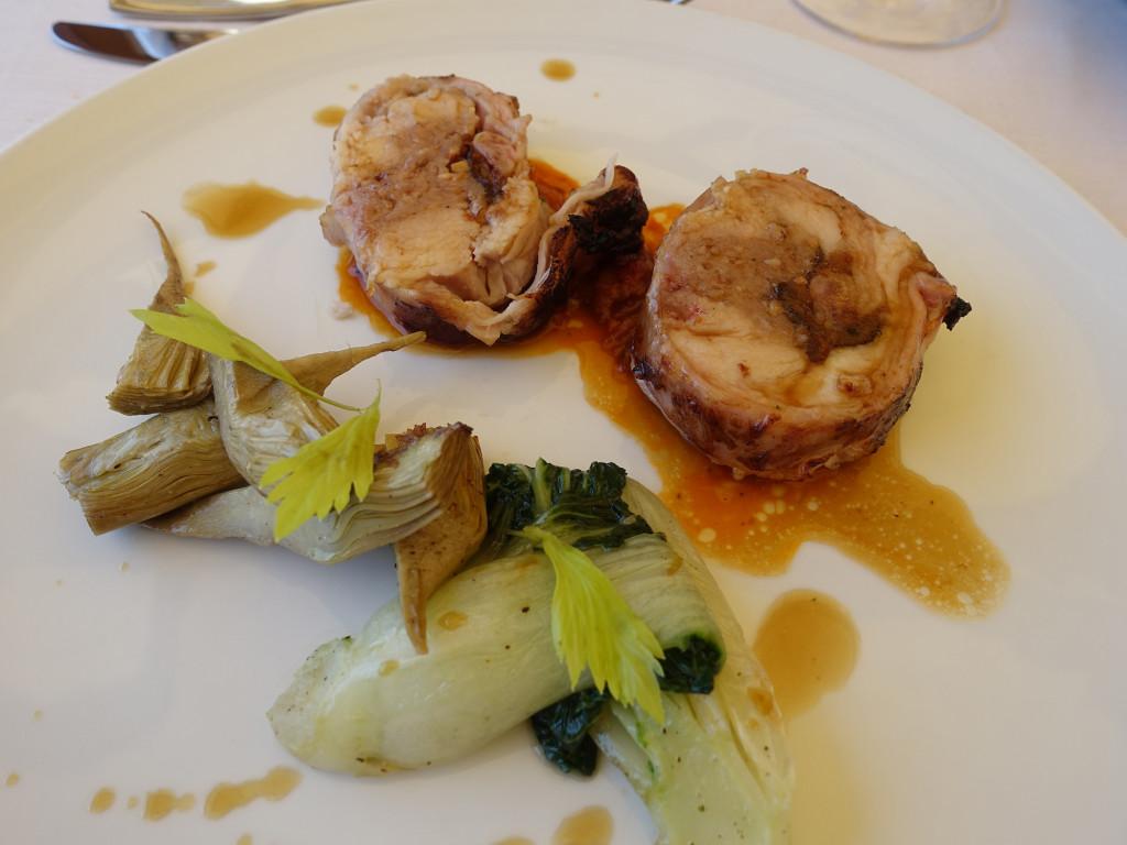 """Gradara - Restaurant """"Mastin Vecchio"""" - gefülltes Kaninchen"""