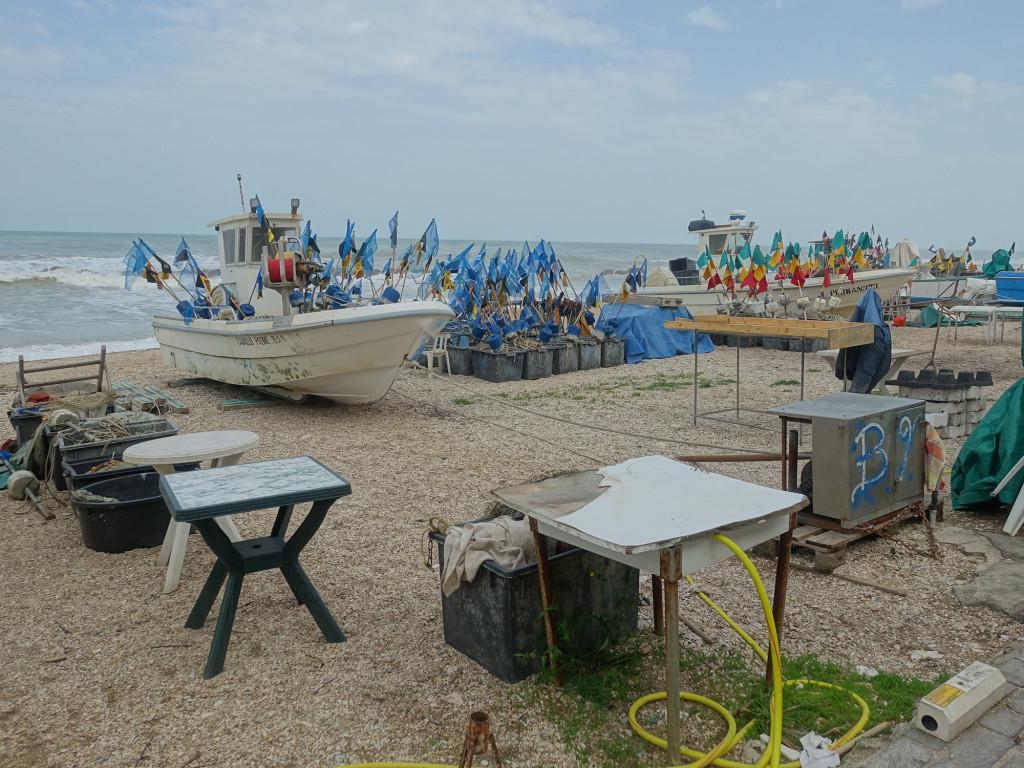 Porto Recanati - Fischerboote ohne Fischer
