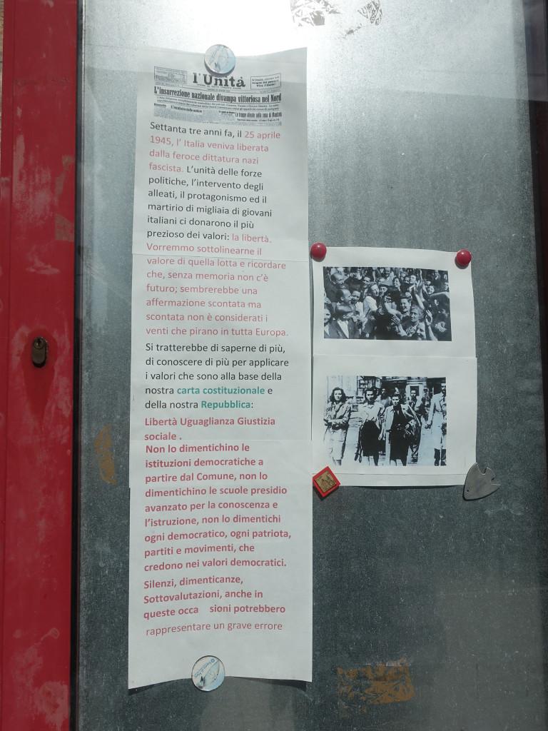 Porto Recanati - am 25. ist Feiertag - Befreiung vom Faschismus