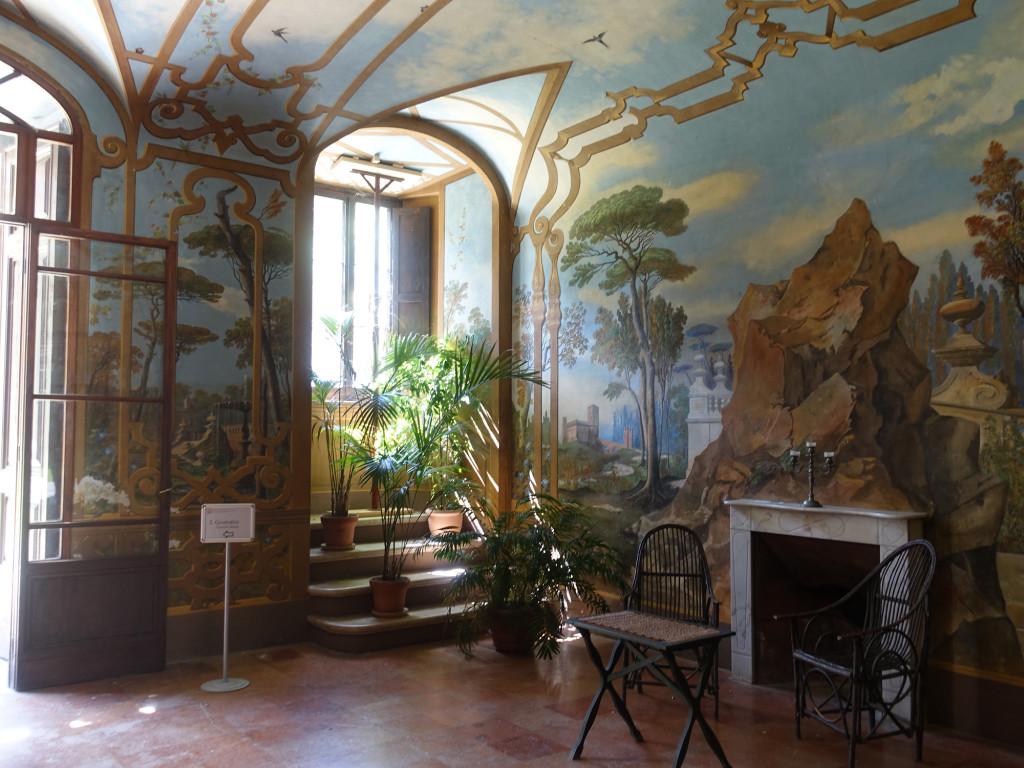 Abbadia di Fiastra - Wintergarten im an den Kreuzgang angebauten Palazzo Giustiniani Bandini