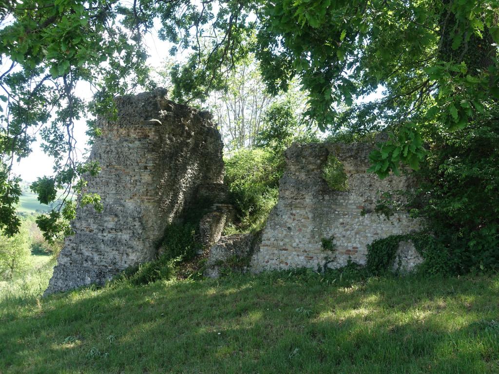 Ein Teil der relativ gut erhaltenen Stadtmauer der römischen Stadt Urbs Salvia