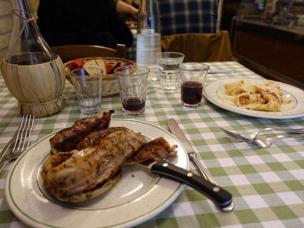 """Osteria """"Il Girarrosto"""" - hat besser geschmeckt als es aussieht :-)"""