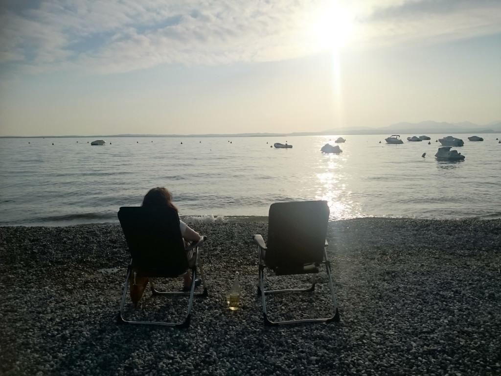 Lazise - Strand vor dem Campingplatz