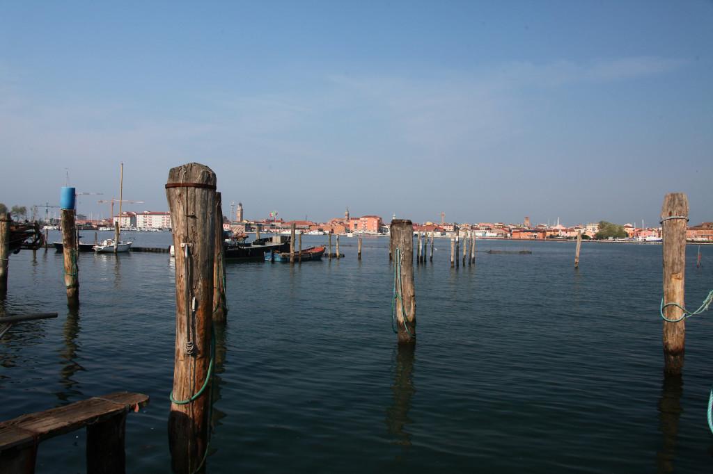 Blick von Sottomarina nach Chioggia