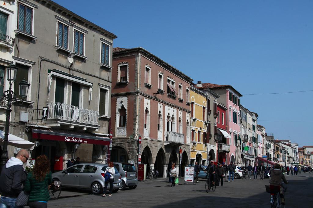 Chioggia - die Hauptstraße Corso del Popolo