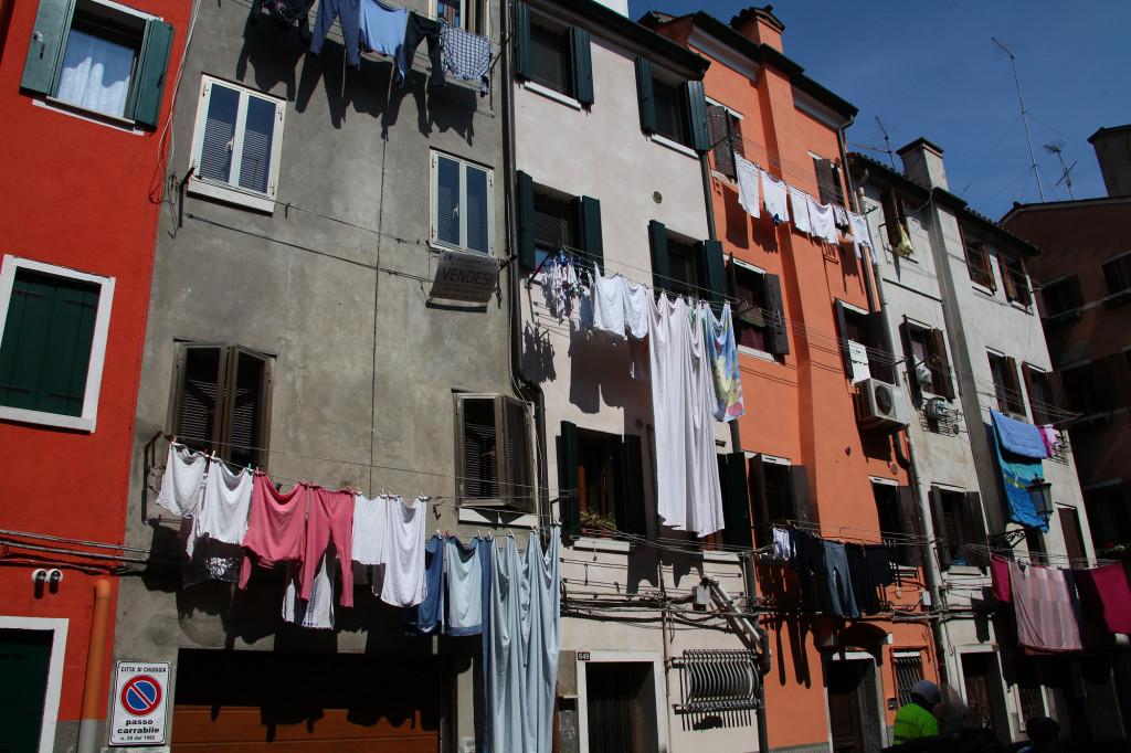 Chioggia - die Sonne scheint, also ist große Wäsche angesagt