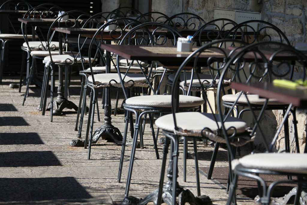 Piazza della Libertá - es sind noch Plätze frei :-)
