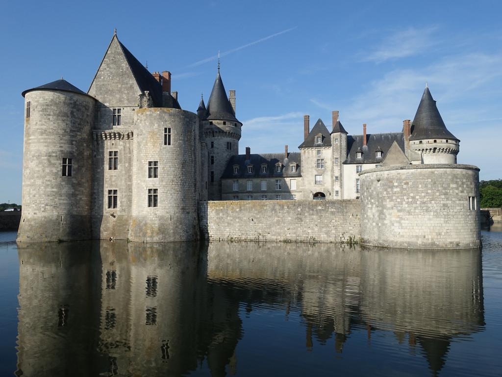 Sully-sur-Loire - die Rückseite des Schlosses