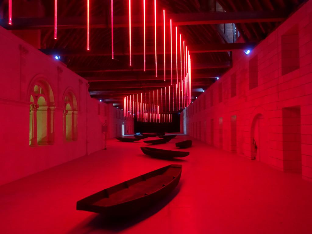 Abtei Fontevraud - Installation, die die Schifffahrt auf der Loire thematisiert