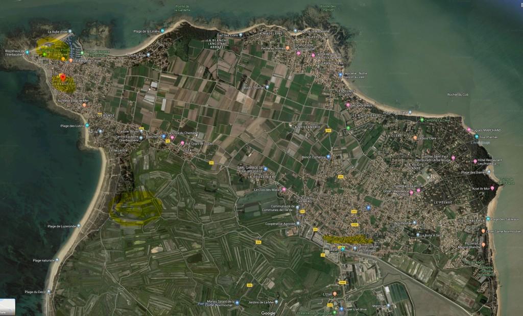 [Quelle: google.maps] L'Herbaudière auf der Insel Noirmoutier