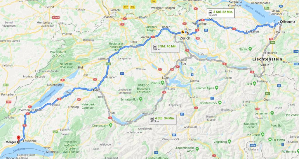 Bregenz - Morges