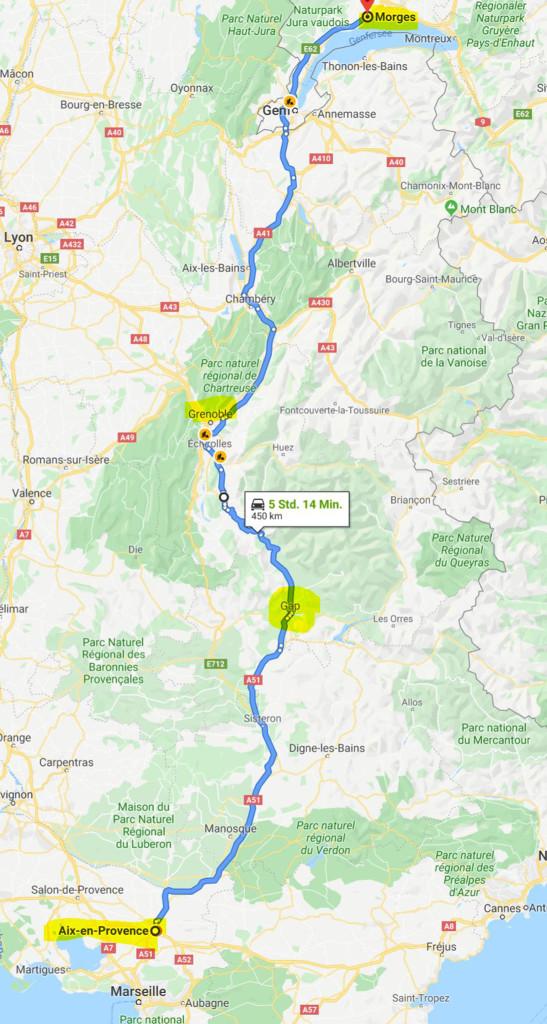 Morges - Gap - Aix-en-Provence