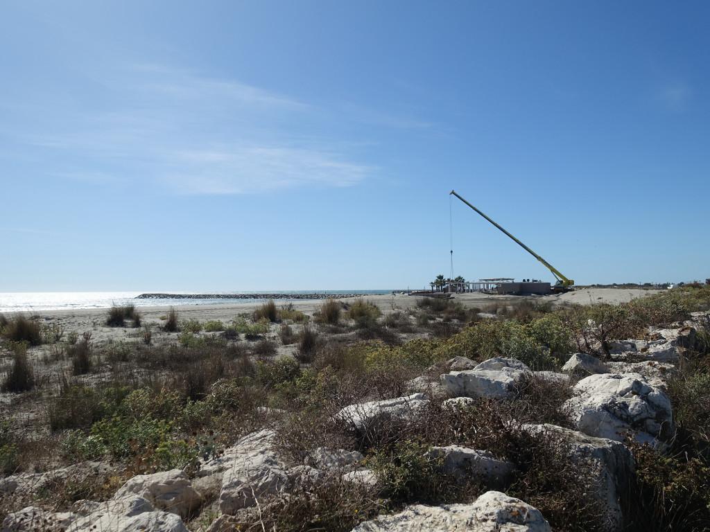 Strandrestaurant wird abgebaut