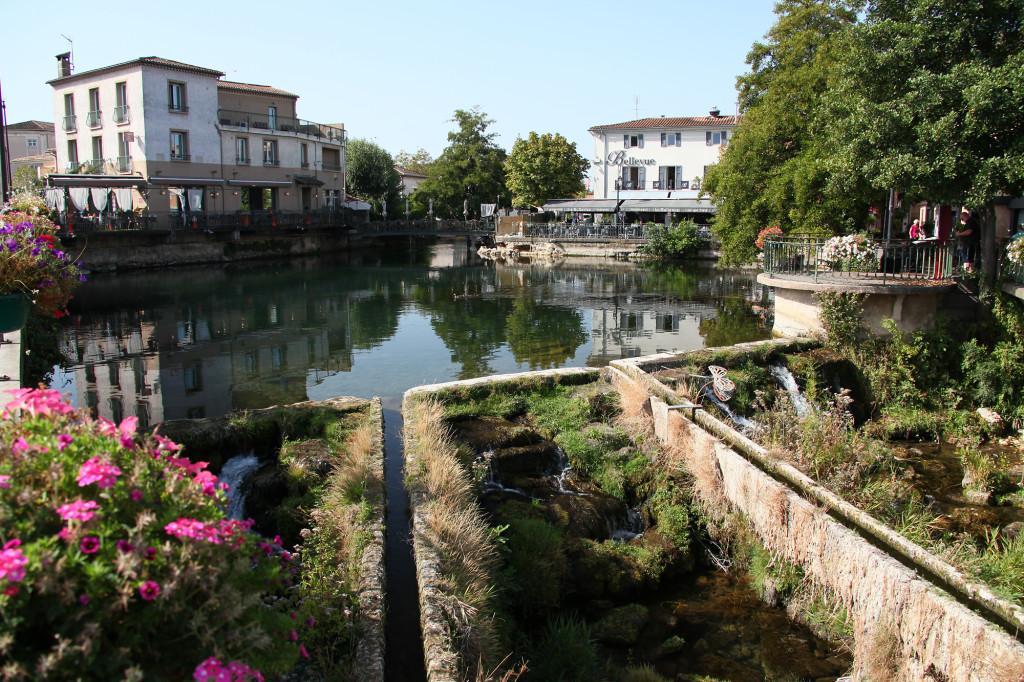 """Die Sorgue - das Wasserverteilbecken """"Bassin de Bouigas"""""""